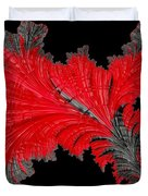 Red Feather - Abstract Duvet Cover