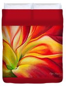 Red Fire Duvet Cover