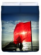 Red Flag Warning Sunrise 3 9/30 Duvet Cover