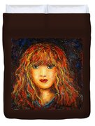 Red Flame Duvet Cover