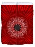 Red Floral Duvet Cover