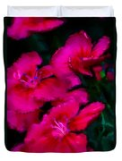Red Floral Study Duvet Cover by David Lane