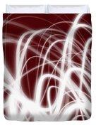 Red Flow2 Duvet Cover