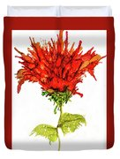 Red Flower 2 Duvet Cover