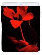 Love For Red Flower #1. Duvet Cover