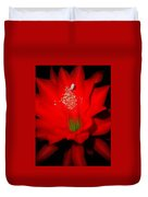 Red Flower For You Duvet Cover