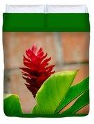 Red Flower IIi Duvet Cover