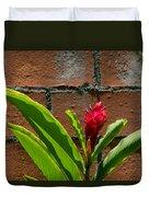 Red Flower Iv Duvet Cover