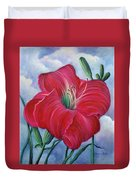 Red Flower Dreams Duvet Cover