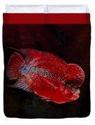 Red Flowerhorn Cichlid Duvet Cover