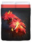 Red Flowers Duvet Cover