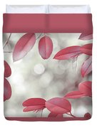 Red Foliage. Silver Light Duvet Cover