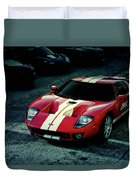 Red Ford Gt Duvet Cover
