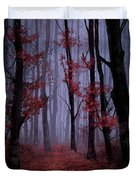 Red Forest 2 Duvet Cover