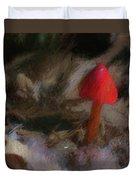 Red Forest Mushroom Duvet Cover