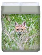 Red Fox Baby Hiding Duvet Cover