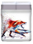 Red Fox /big Duvet Cover