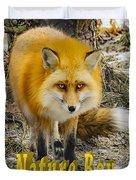 Red Fox Nature Boy Duvet Cover