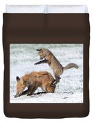 Red Fox Pounce Duvet Cover