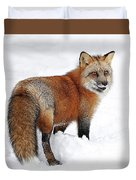 Red Fox Winter Duvet Cover