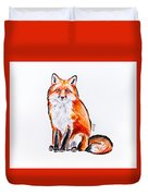 Red Foxie Duvet Cover
