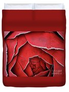 Red Frosty Metal Rose Duvet Cover