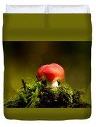 Red Fungus Duvet Cover