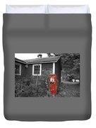Red Gas Pump Duvet Cover