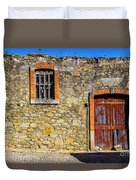 Red Gate, Stone Wall Duvet Cover