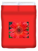 Red Gerber Daisy Duvet Cover