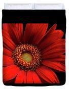 Red Gerbera Duvet Cover