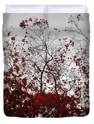 Red Glitter Duvet Cover