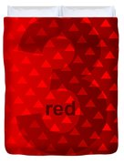 Red God Three Duvet Cover