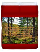 Red, Gold And Green Duvet Cover