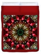 Red Gold Green Kaleidoscope 1 Duvet Cover
