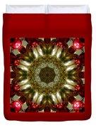 Red Gold Kaleidoscope 1 Duvet Cover