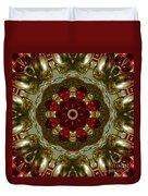 Red Gold Kaleidoscope 2 Duvet Cover