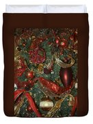 Red Gold Tree No 3 Fashions For Evergreens Event Hotel Roanoke 2009 Duvet Cover