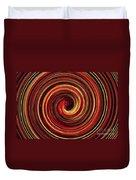 Have A Closer Look. Red-golden Spiral Art Duvet Cover