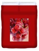 Red Grape Reflections Duvet Cover