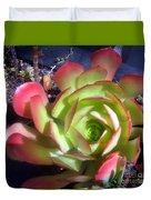 Red Green Succulent Duvet Cover