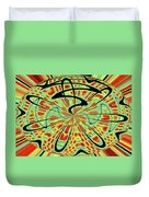 Red Green Yellow And Black Abstract Duvet Cover