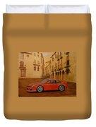Red Gt3 Porsche Duvet Cover