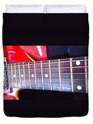Red Guitar Neck Duvet Cover