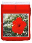 Red Gumamela  Duvet Cover