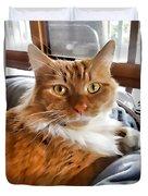 Red-haired Kitten Duvet Cover