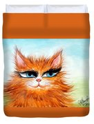 Red-haired Sofia The Cat Duvet Cover
