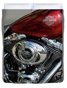 Red Harley Duvet Cover