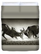 Red Hartebeest Dual In Dust Duvet Cover