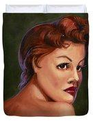 Red Head Duvet Cover